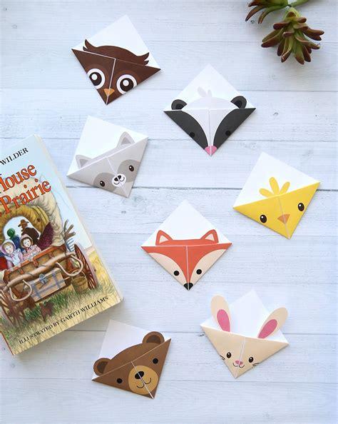 printable origami animal paper diy woodland animals origami bookmarks print fold
