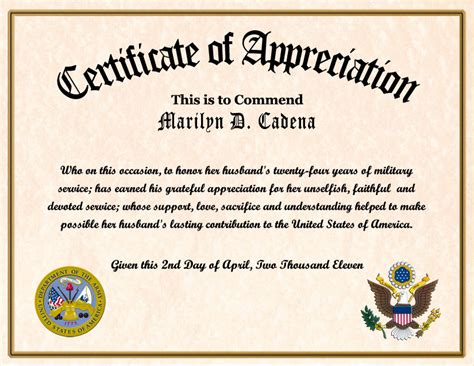 navy retirement certificate template navy certificates of appreciation wording just b cause