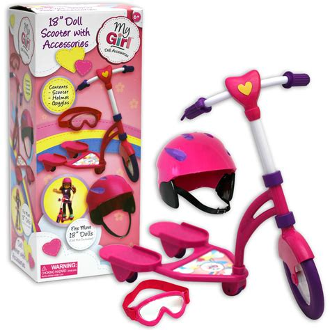 kmart dolls and accessories 18 quot doll accessory scooter with helmet
