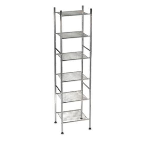 buy bathroom shelves buy chrome shelving from bed bath beyond