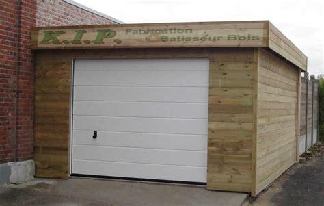 Garage En Bois Toit Plat 436 by Garage En Bois Toit Plat Garage Toit Plat En Bois Brut