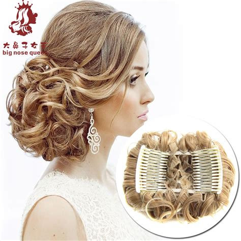 updo with elastic combs women new high quality two plastic combs elastic net curly