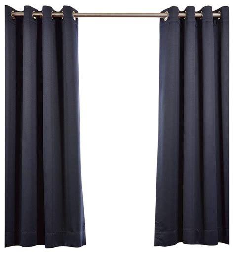 navy blue grommet curtain panels eclipse grommet blackout curtain single panel navy blue