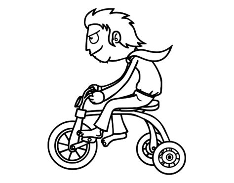 tricycle coloring pages preschool tricycle coloring pages for kids sketch coloring page