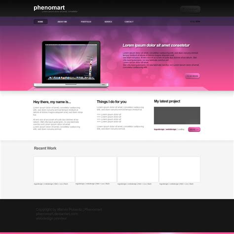 layout web design simple simple webdesign v2 by phenomart on deviantart