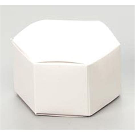 favor box hexagon pearl white 12 pieces favor