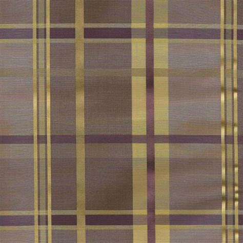 Gold Plaid Curtains Cologne Plaid Faux Silk Fabric In Woodrose Plum Purple And Gold Color Custom Window Treatments