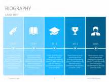 Powerpoint Biography Template by Powerpoint Slide Templates Biography Slides