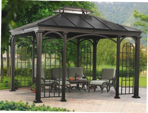 gazebo metal metal roof gazebo home depot gazebo ideas