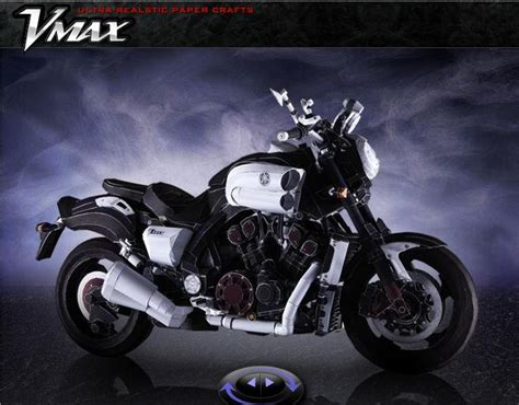 Papercraft Motorcycle - yamaha motorcycle ultra realistic vmax papercraft