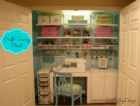 Diy Sewing Room Ideas by Diy By Design Craft Sewing Closet Reveal