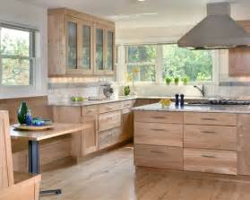 Walnut Kitchen Cabinets Granite Countertops - natural wood cabinets houzz