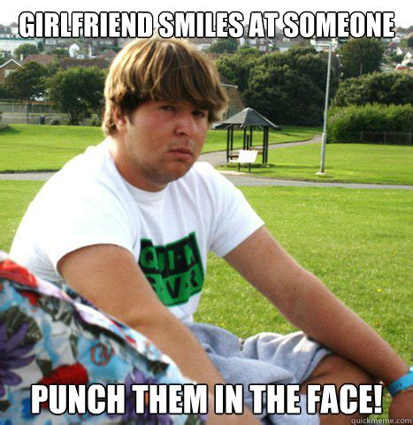 Over Girlfriend Meme - girlfriend smiles at someone punch them in the face