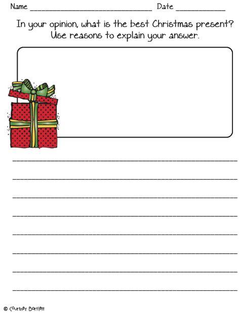christmas writing activities for 2nd grade december writing prompts for graders swimming into second opinion