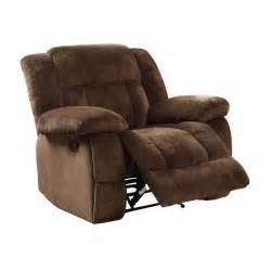 homelegance laurelton glider reclining chair recliners