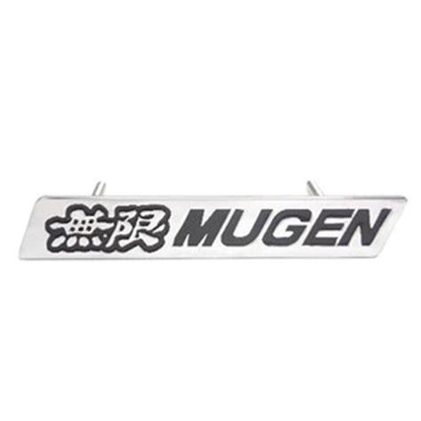 Emblem Mugen Hitam Chroom jual harga emblem grill depan mugen krom plat jazz