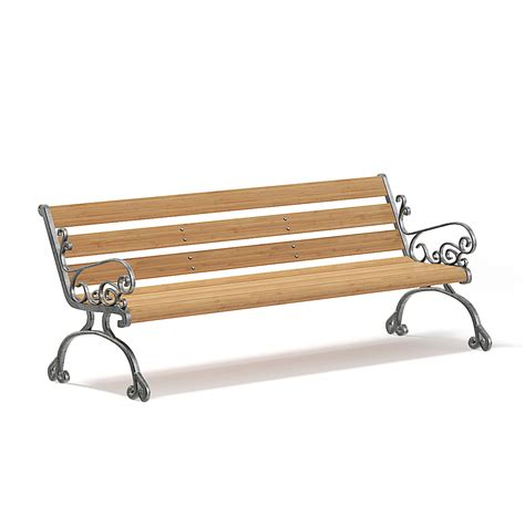 model bench garden bench 3d model free cgaxis comcgaxis free 3d models