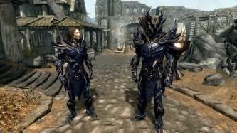 daedric light armor daedric blue at skyrim nexus mods