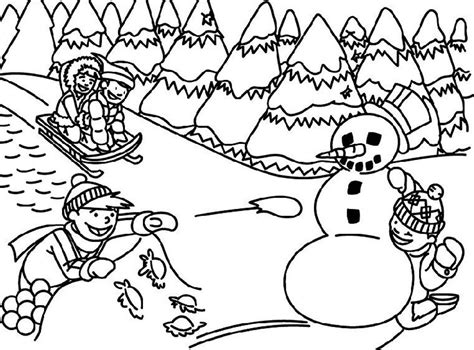 free printable coloring pages of winter scenes coloring home