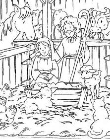 birth jesus coloring pages children free
