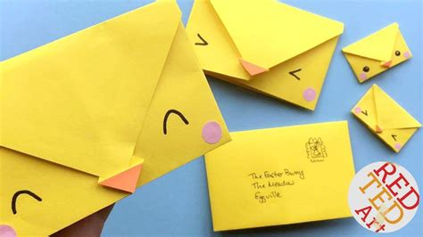 5 Minute Origami - easy origami envelopes easy easter diys