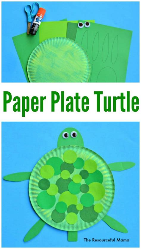 Paper Turtle Craft - paper plate turtle craft turtle crafts and turtle