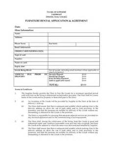 uk furniture rental agreement forms and business