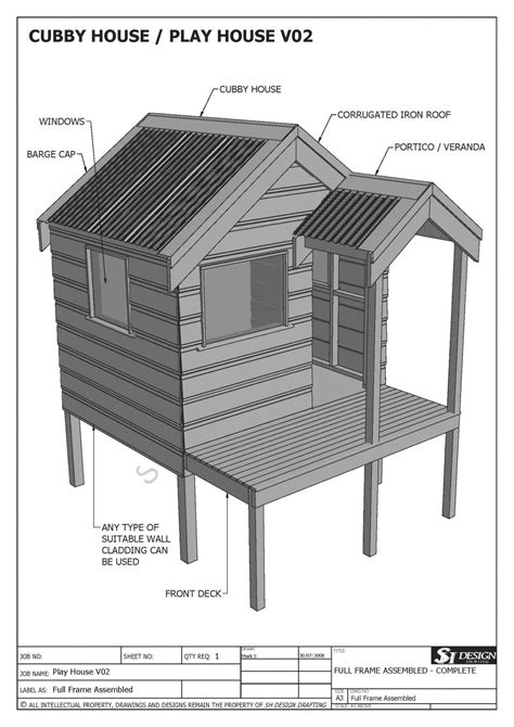 Plans For A Cubby House Cubby House Build Plans House And Home Design