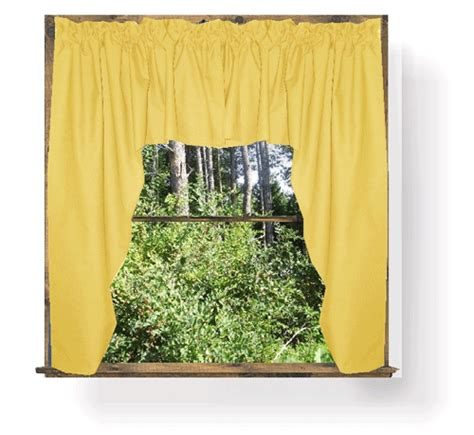 Yellow Swag Kitchen Curtains by Golden Yellow Swag Window Valance Set