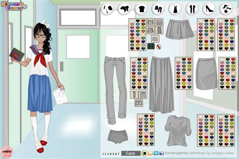 design your own home dress up games rinmaru games mega school girl dress up game