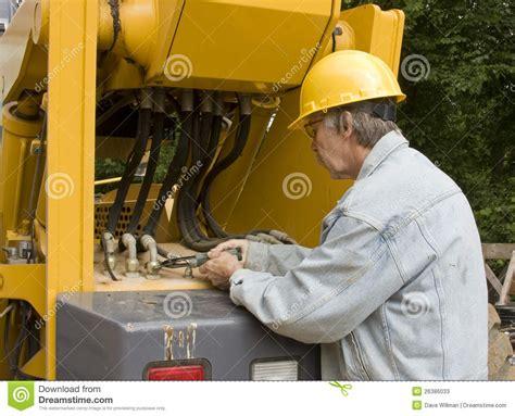 heavy equipment mechanic stock image image of tools