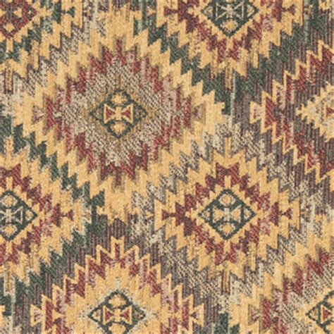 rustic upholstery fabric gold green grey and burgundy southwest