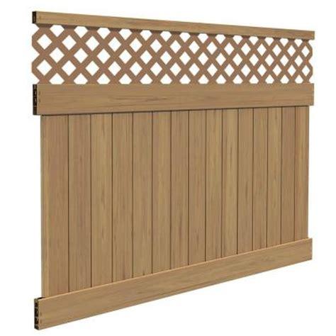 fence sections home depot veranda yellowstone 6 ft h x 8 ft w cypress vinyl