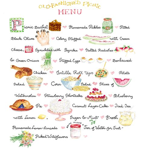 summer picnic menu susan branch blog