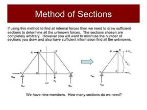 statics method of sections structures and materials section 1 statics