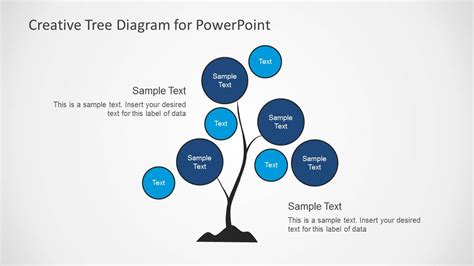 strategy tree template creative tree diagrams for powerpoint slidemodel