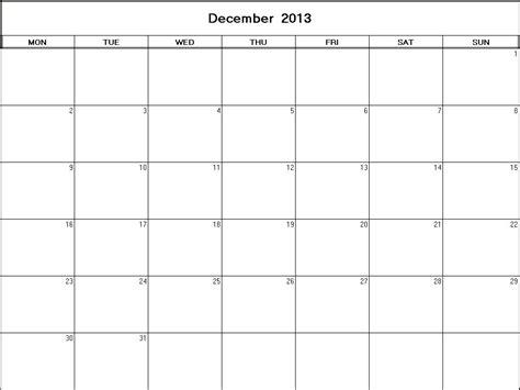 december 2013 calendar template december 2013 printable blank calendar