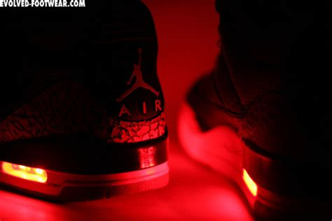 light up jordans shoes air iii quot light up quot customs by evolved footwear