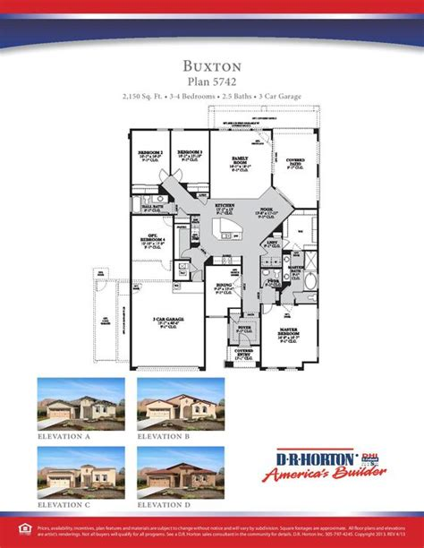 Dr Horton Single Story Floor Plans | dr horton buxton floor plan maybe we should just build