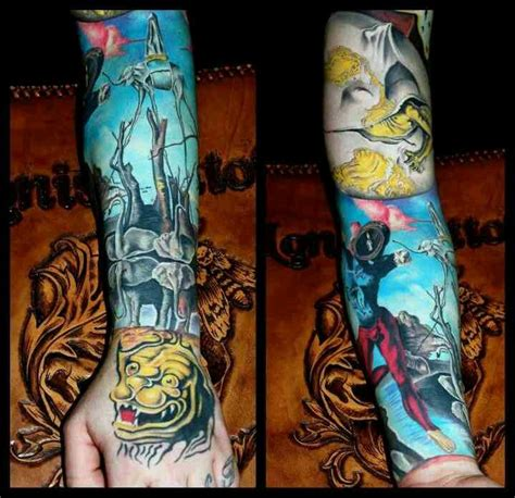 salvador dali tattoos best 25 salvador dali ideas on