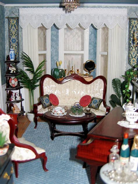 dollhouse living room blukatkraft victorian dollhouse living room 1 12 scale