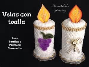 recuerdos en bombon primera comunion velas hechas con toallas faciales para recuerdos de