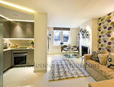 Kitchen Next To Living Room by 1 Bedroom Apartment In Mayfair