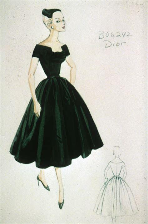 christian dior cocktail dress sketch  fall