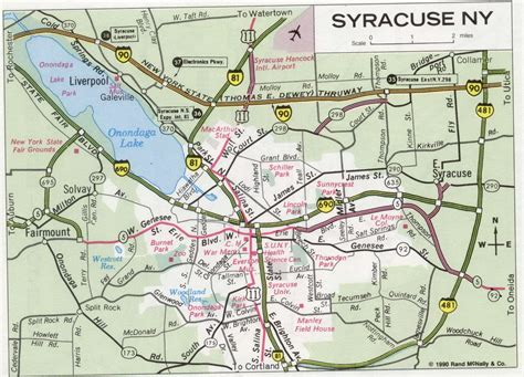 syracuse map syracuse ny road map