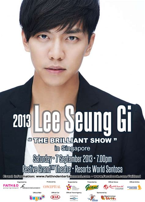 lee seung gi in singapore lee seung gi the brilliant show in singapore x clusive