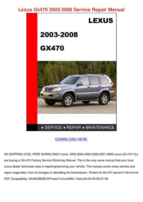 car owners manuals free downloads 2009 lexus gx head up display lexus gx470 2003 2008 service repair manual by shawnna higgs issuu