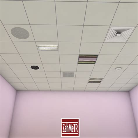 Office Ceiling Tiles by Office Ceiling Panels By Zahmetr 3docean