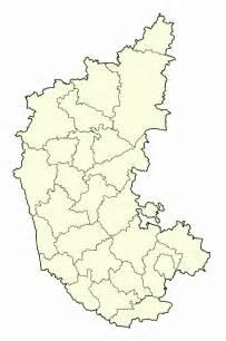 Karnataka Outline Map by Blank Map Of Karnataka Mapsof Net