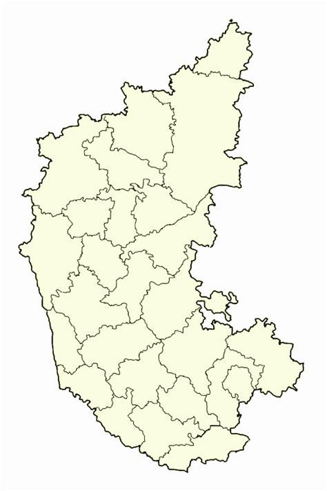Karnataka Outline Map blank map of karnataka mapsof net